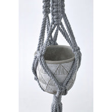 Load image into Gallery viewer, macrame-plant-hanger-gray