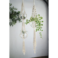 Load image into Gallery viewer, macrame-plant-hanger-cotton-2-pots-capacity