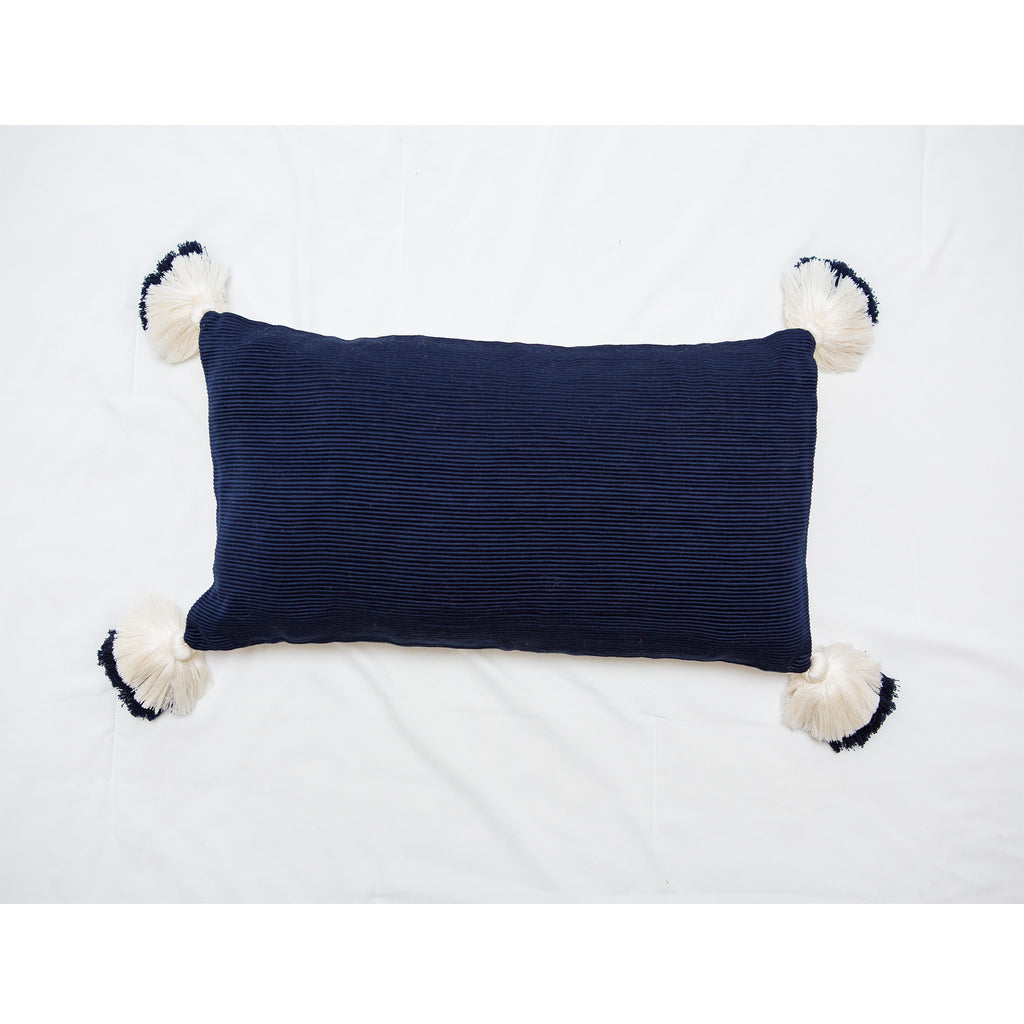 Designer Navy Blue Lumbar Pillow