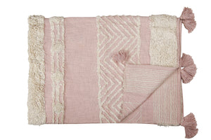 Pink Throw with Tufting