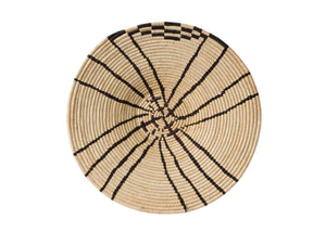 "20"" Large Wall Decor Basket in Black and Natural"