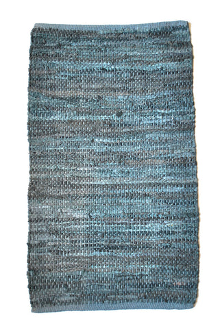 teal-leather-small-accent-rug