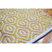 Load image into Gallery viewer, Meraki Home Accents Yellow Geometric Rug