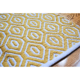 Meraki Home Accents Yellow Geometric Rug