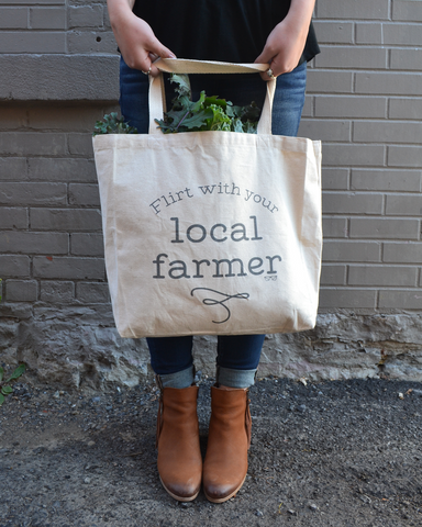 Flirt with Your Local Farmer Canvas Tote | The Nutritious Nerd
