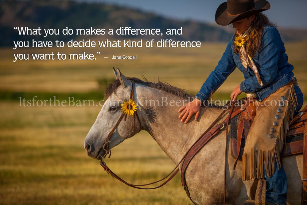 What you do makes a difference ...
