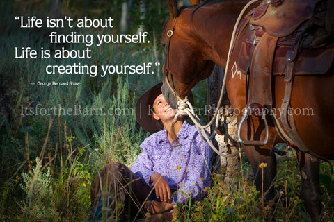 Life isn't about finding yourself its about creating yourself.