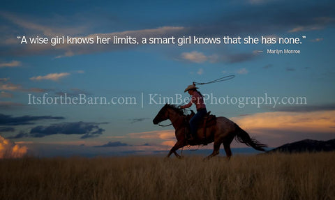 A wise girl knows her limits, a smart girl knows that she has none.