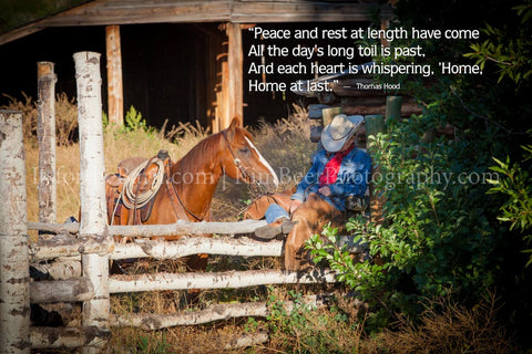 Peace and rest at length have come all the day's long toll is past...