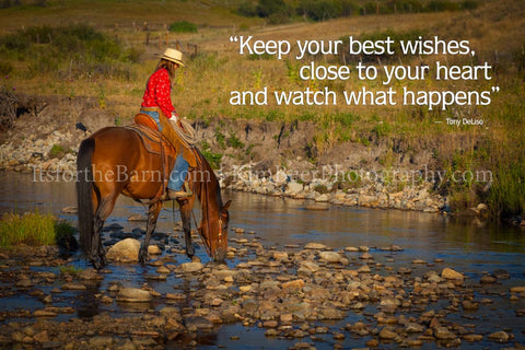 Keep your best wishes clos to your heart and watch what happens.