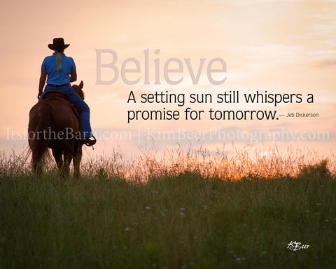 Believe: A setting sun still whispers a promise for tomorrow.