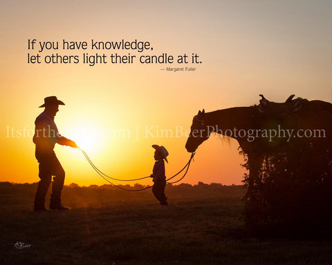 If you have knowledge let others light their candle at it.