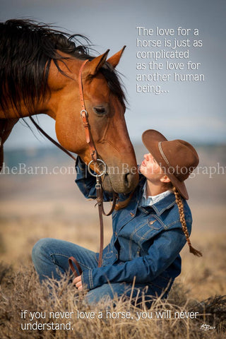 The love for a horse is just as complicated as the love for another human being.