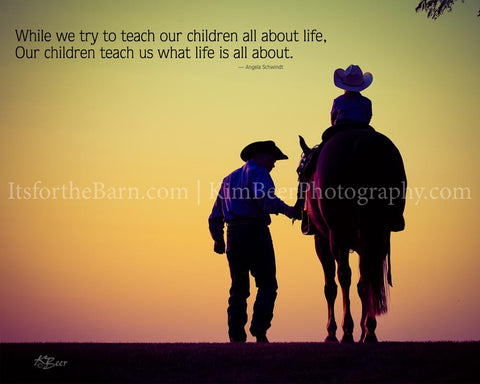 While we try to teach our children all about life...