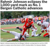 Rahmir Johnson eclipses the 1,000-yard mark as No. 1 Bergen Catholic advances