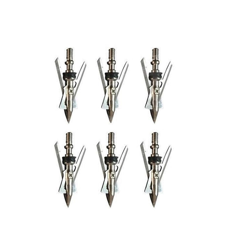 6pcs Stainless Steel Broadheads 100 Grain