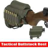 Adjustable Buttstock Cheek Rest Shooting Pad With Ammo Holder