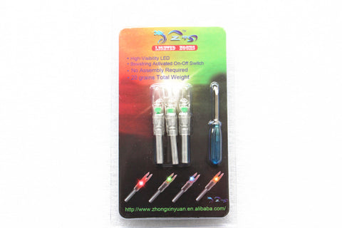 3PCS Green Lighted Nocks Similar to Nockturnal Design