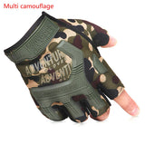 Multicolor Breathable Half Finger Gloves