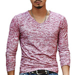 Trendy Fall Men's Casual Long Sleeve Slim Stretch