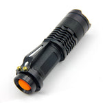 LED Flashlight Mini Zoom Use AA or 14500 Battery Waterproof
