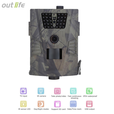 720P Trail Camera HD 90 Degree 32GB IR LEDs