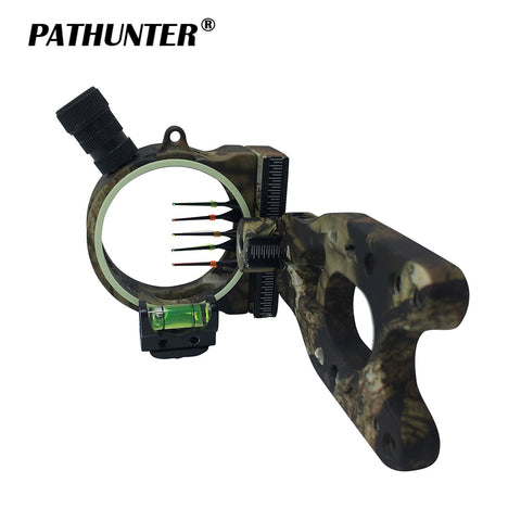 PATHUNTER Bow Sight 5-PIN 0.019''W/Light Fiber Optic LED Light
