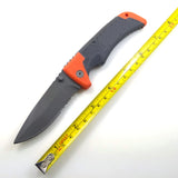 folding knife titanium steel blade + Rubber handle