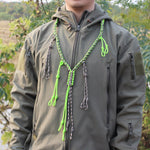 Duck Call Lanyard with 12 Adjustable Loops Hand Braided Necklace