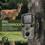 Motion Activated Game Trail Camera 12mp 1080p Night Vision Range up to 65ft IP66 Waterproof