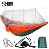 Mosquito Net Hammock With Adjustable Straps And Carabiners  21 Colors In Stock