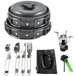 16Pcs Light Weight Camping Cookware Mess Kit