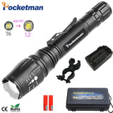 LED Flashlight zoomable