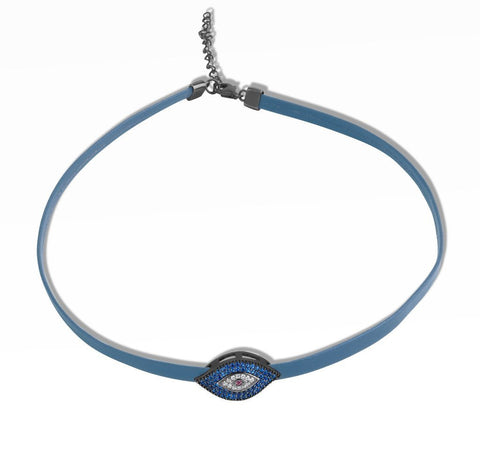 Blue Evil Eye Choker