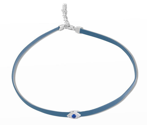 Single evil eye choker
