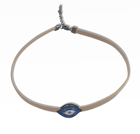 Large evil eye choker