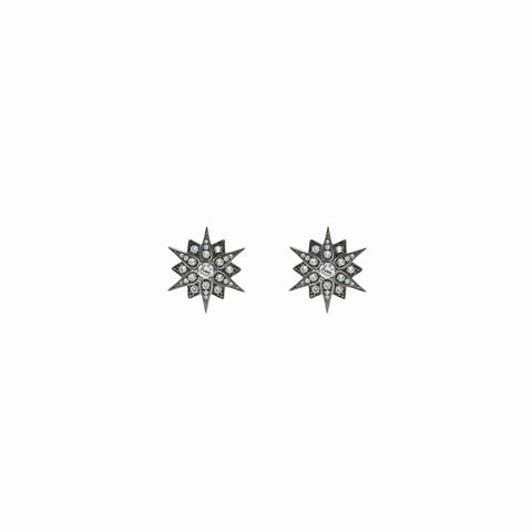 BLACK STARBURST EARRING