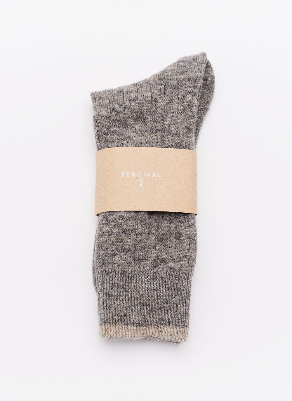 Socks | Warm Grey Wool Nep