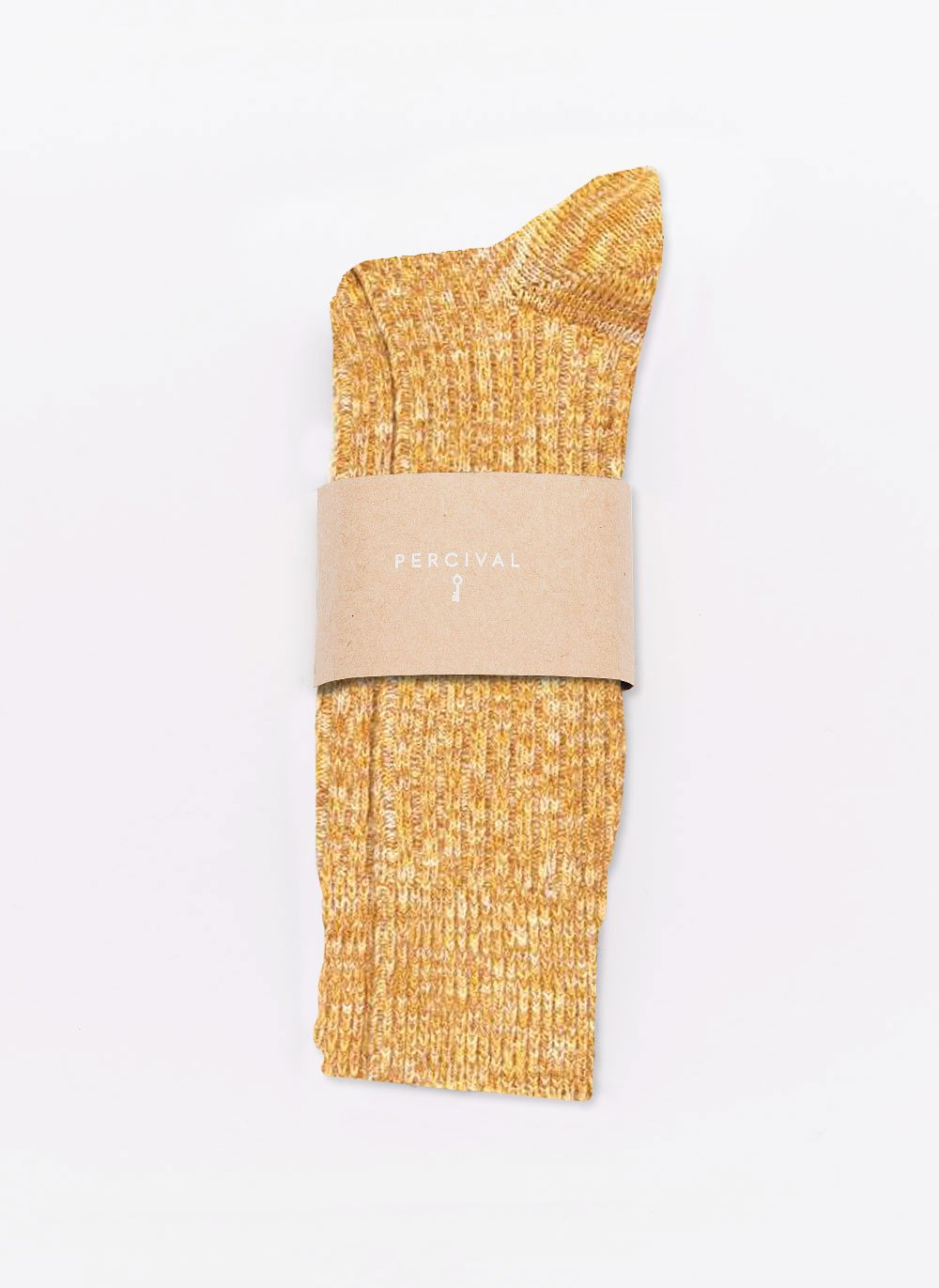 Socks | Mustard Melange Cotton
