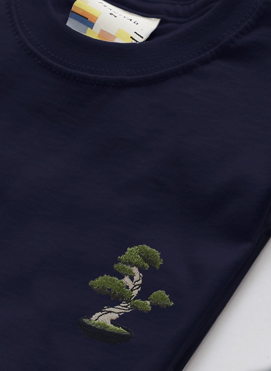 T Shirt | Bonsai Tree | Navy