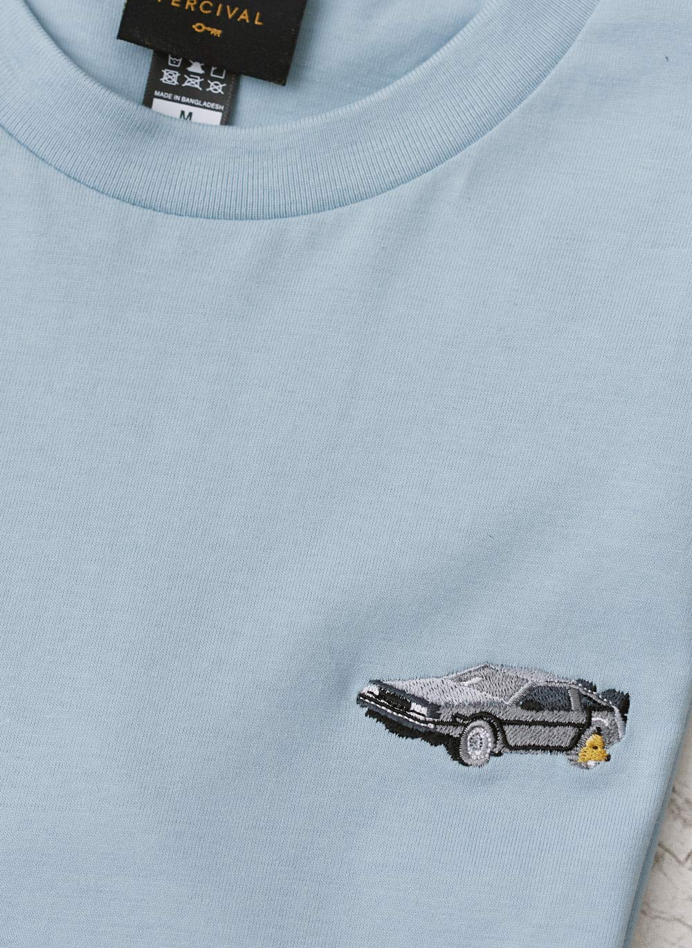 T Shirt | Clamped DeLorean | Lt Blue
