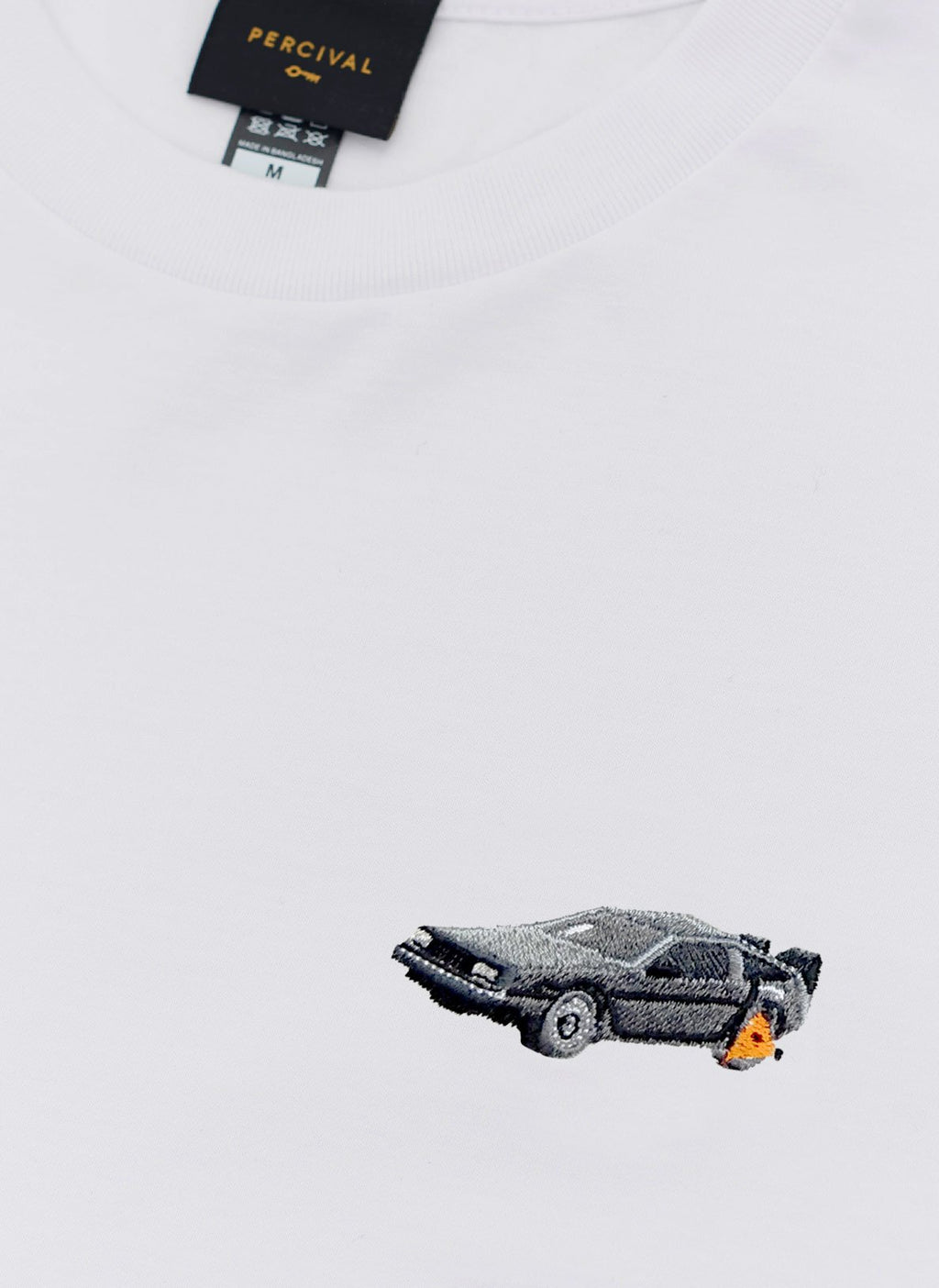 T Shirt | Clamped DeLorean | White