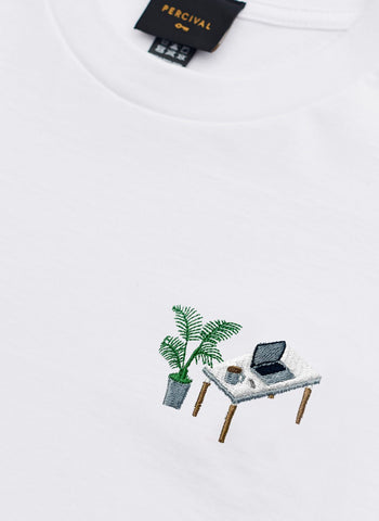 T Shirt | Typewriter | White