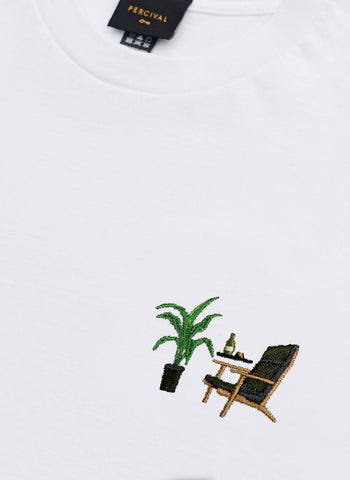 T Shirt | Space Dog | White