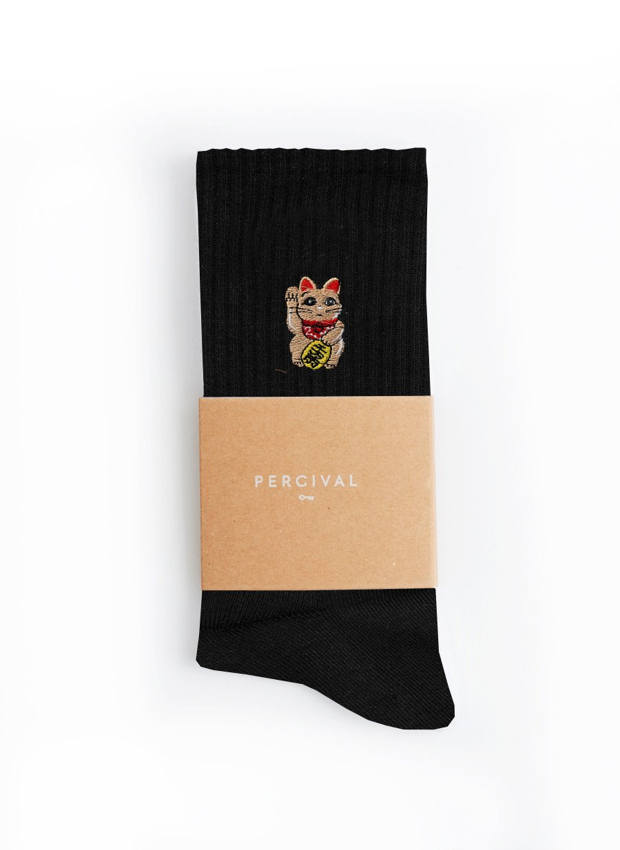 Socks | Goodluck Cat | Black