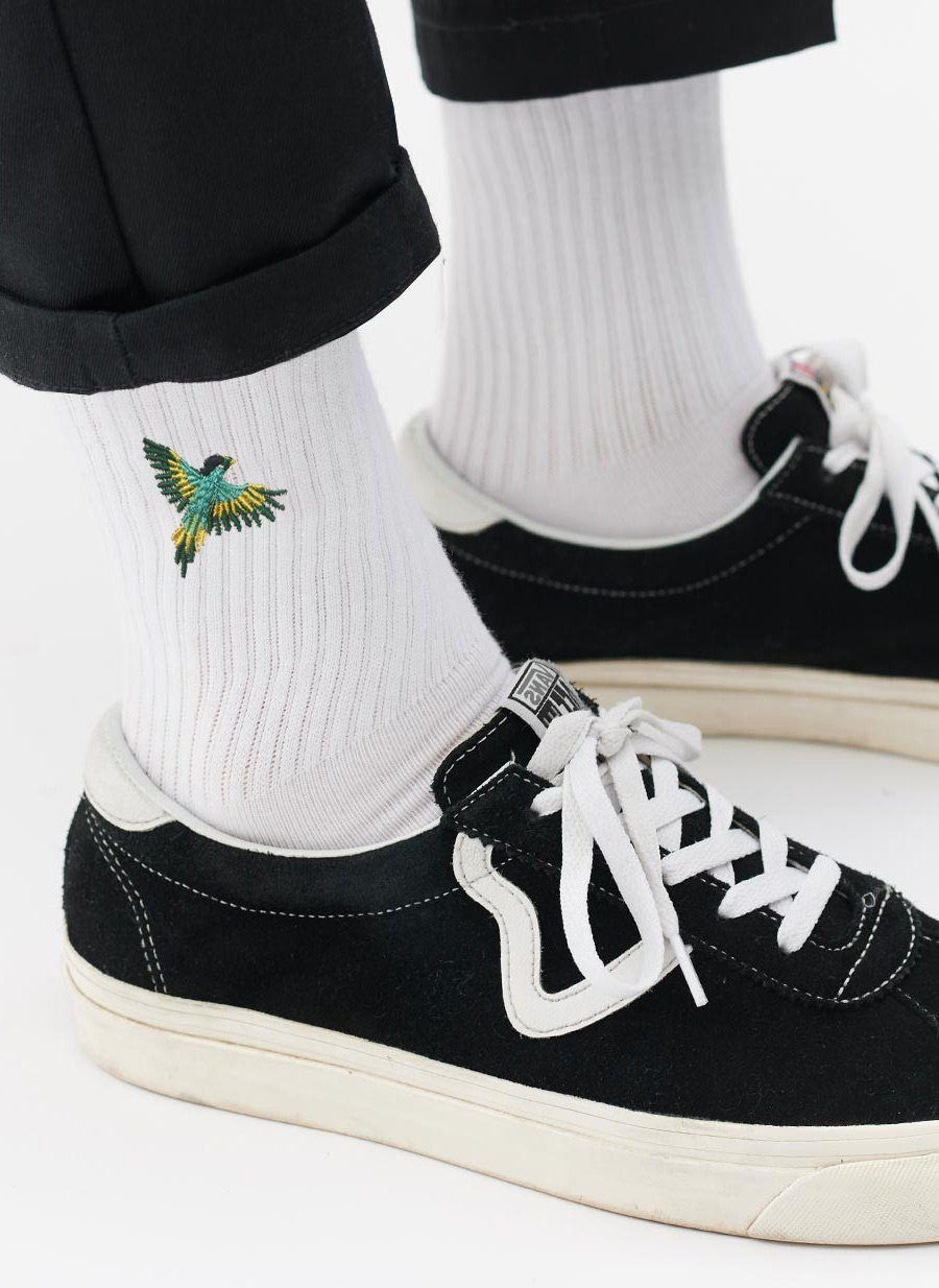 Socks | Parrot Bros | White
