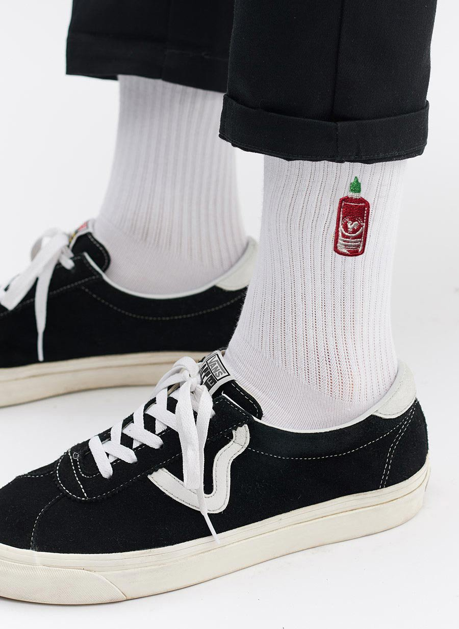 Socks | Hot Sauce | White