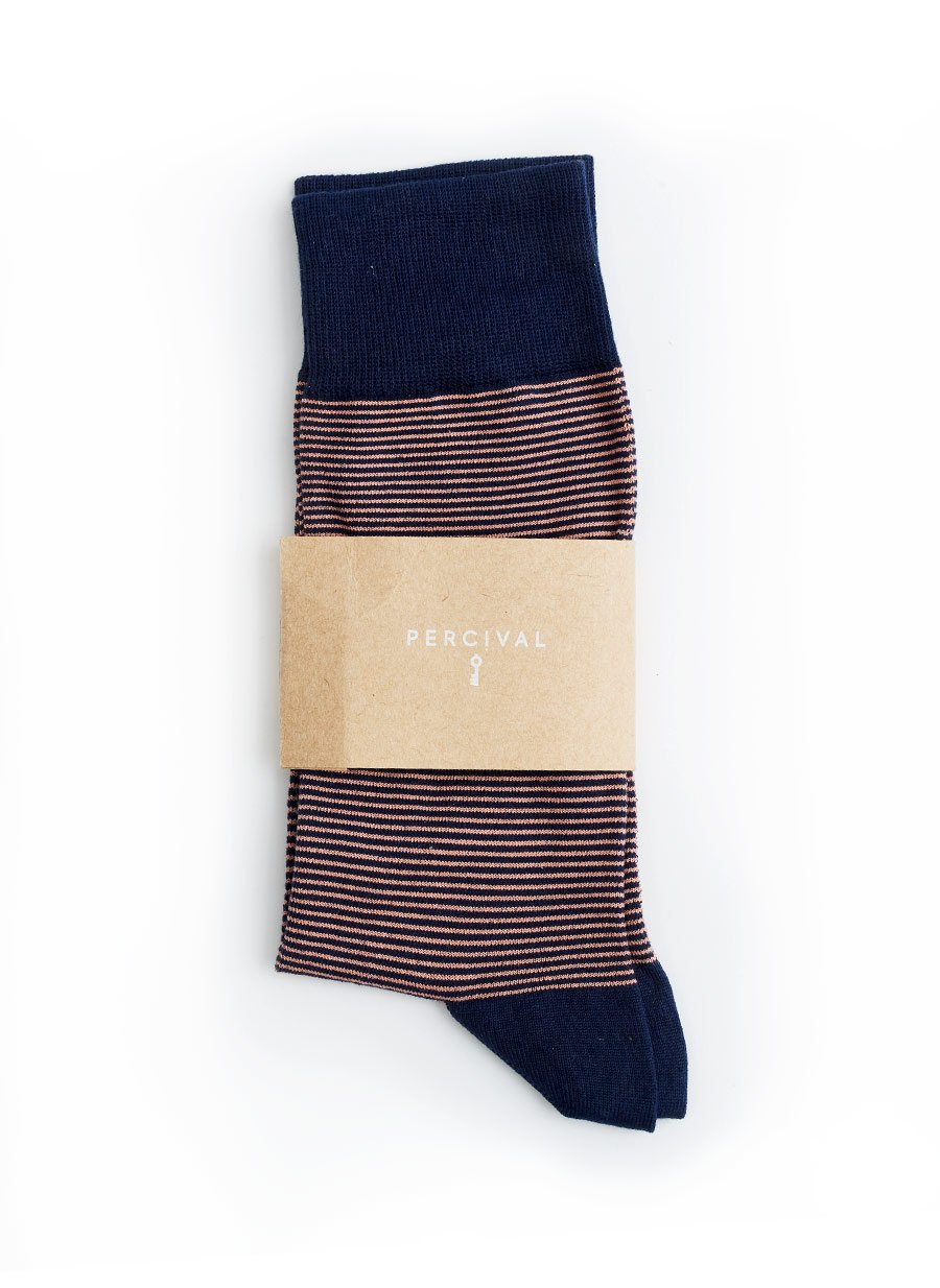 Socks | Coral Stripe
