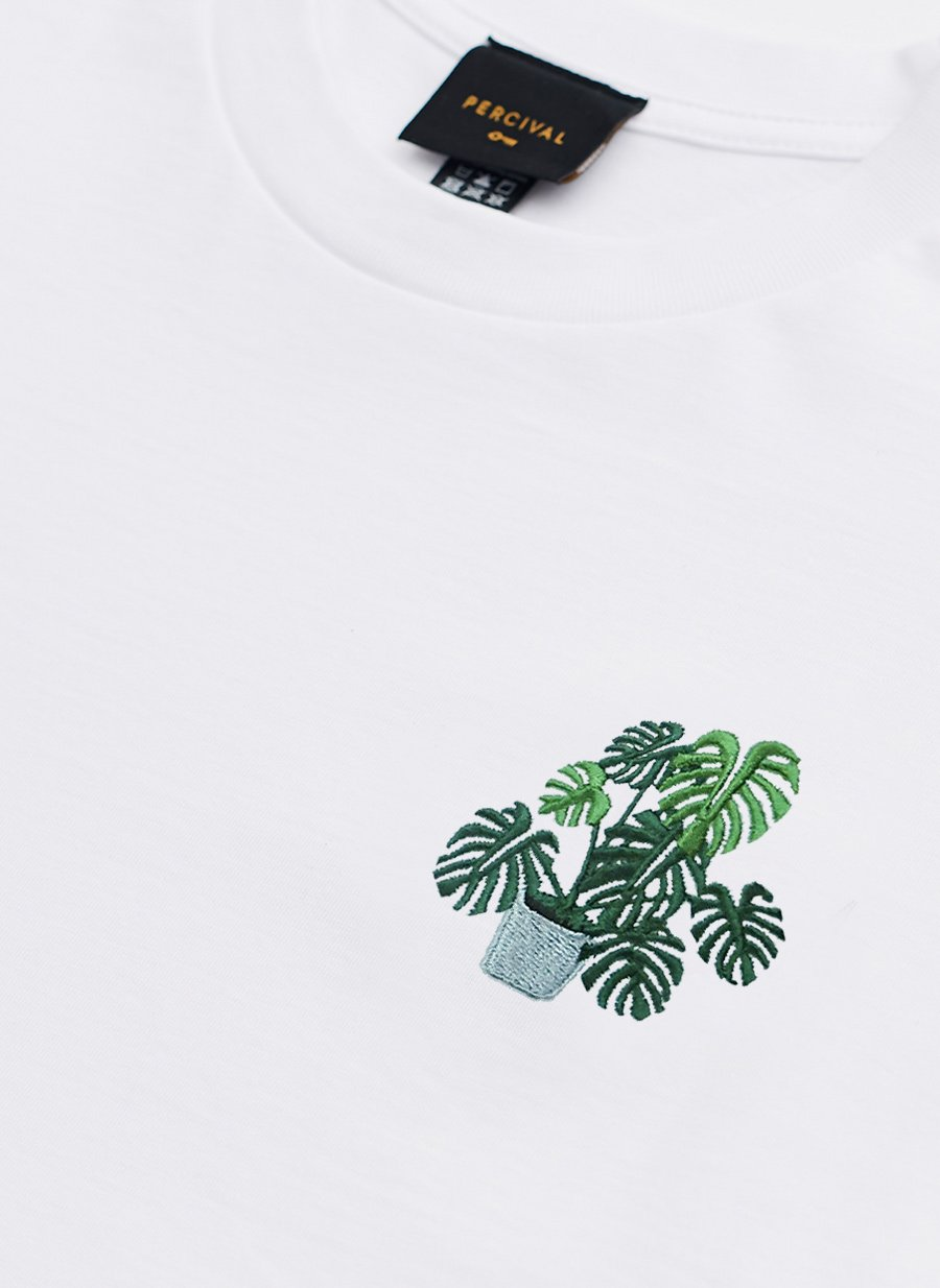 T Shirt | Monstera Embroidery