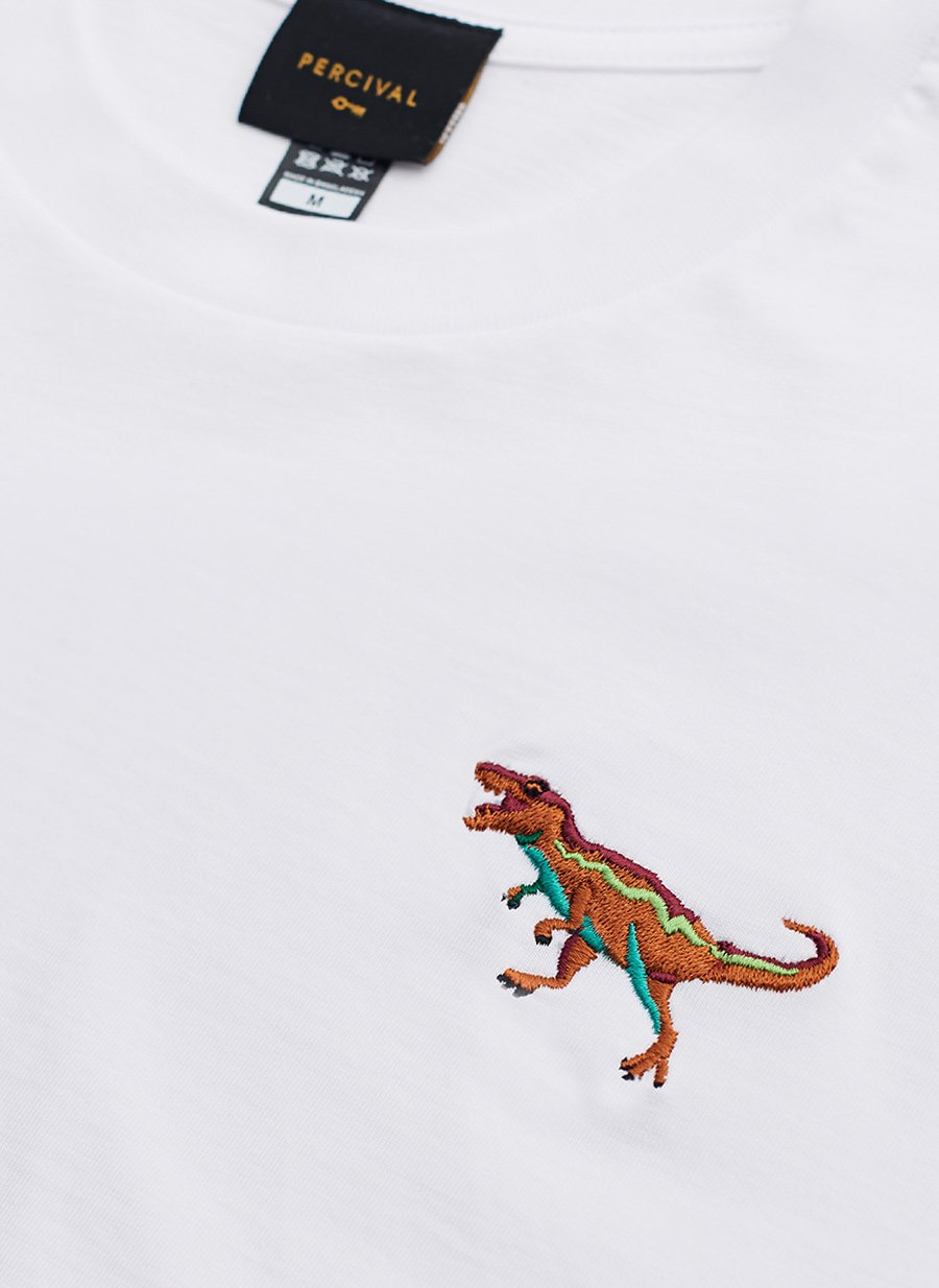 T Shirt | T Rex | White